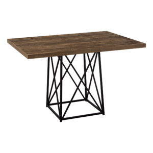 DINING TABLE – 36″X 48″ / BROWN RECLAIMED WOOD-LOOK/BLACK