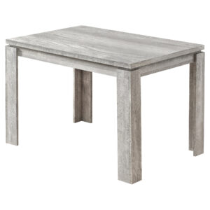 DINING TABLE – 32″X 48″ / GREY RECLAIMED WOOD-LOOK