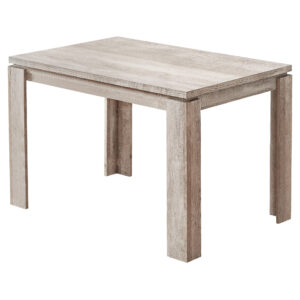 DINING TABLE – 32″X 48″ / TAUPE RECLAIMED WOOD-LOOK
