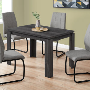 DINING TABLE – 32″X 48″ / BLACK RECLAIMED WOOD-LOOK