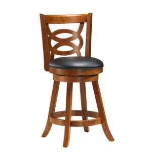 BARSTOOL – 2PCS / 39″H / SWIVEL / OAK COUNTER HEIGHT