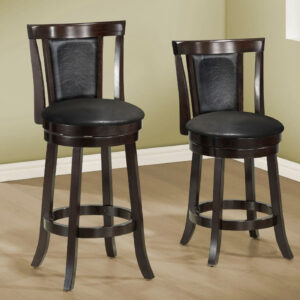 BARSTOOL – 2PCS / 43″H / SWIVEL / ESPRESSO BAR HEIGHT