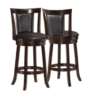 BARSTOOL – 2PCS / 39″H / SWIVEL / ESPRESSO COUNTER HGT