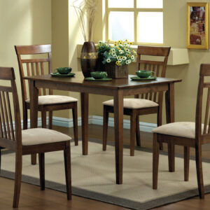 DINING SET – 5PCS SET / WALNUT FINISH