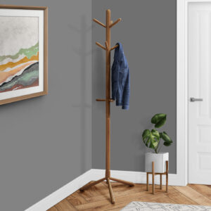 COAT RACK – 69″H / OAK WOOD CONTEMPORARY STYLE