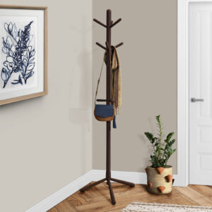 COAT RACK – 69″H / ESPRESSO WOOD CONTEMPORARY STYLE