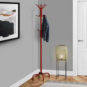 COAT RACK – 70″H / RED METAL