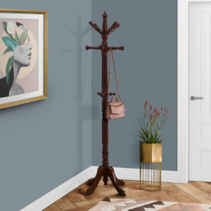 COAT RACK – 73″H / CHERRY WOOD TRADITIONAL STYLE