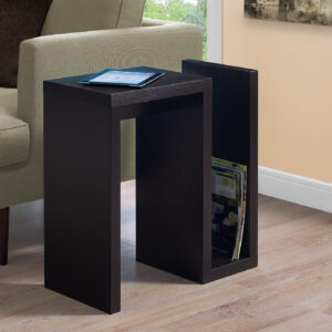 ACCENT TABLE – 24″H / ESPRESSO
