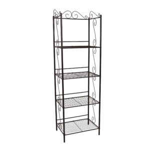 BOOKCASE – 70″H / COPPER METAL ETAGERE