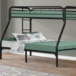 BUNK BED – TWIN / FULL SIZE / BLACK METAL