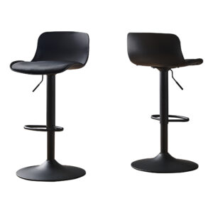 BARSTOOL – 2PCS / BLACK / BLACK METAL HYDRAULIC LIFT