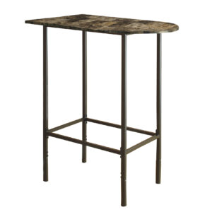 HOME BAR – 24″X 36″ / ESPRESSO MARBLE / METAL