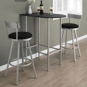 BARSTOOL – 2PCS / 43″H / SWIVEL / SILVER METAL