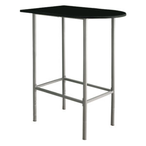 HOME BAR – 24″X 36″ / BLACK / SILVER METAL SPACESAVER