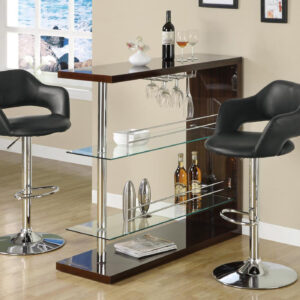 BARSTOOL – BLACK / CHROME METAL HYDRAULIC LIFT