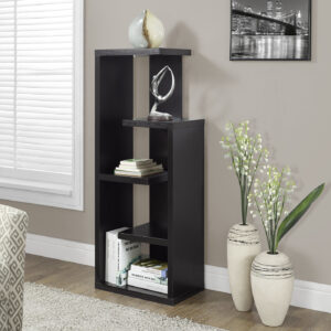 BOOKCASE – 48″H / ESPRESSO ACCENT DISPLAY UNIT