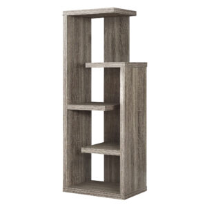 BOOKCASE – 48″H / DARK TAUPE ACCENT DISPLAY UNIT