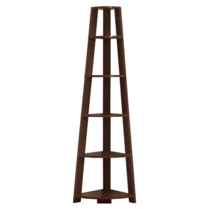 BOOKCASE – 72″H / CHERRY CORNER ACCENT ETAGERE