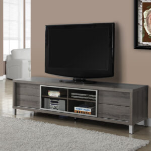 TV STAND – 70″L / DARK TAUPE EURO STYLE