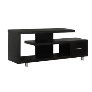 TV STAND – 60″L / ESPRESSO WITH 1 DRAWER