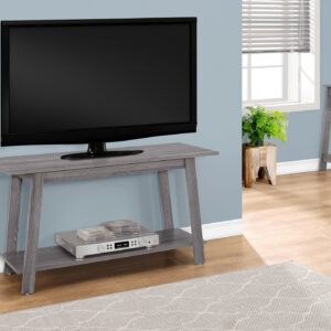 TV STAND – 42″L / GREY