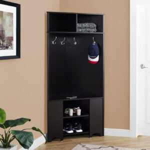 HALL TREE – 67″H / ESPRESSO CORNER UNIT