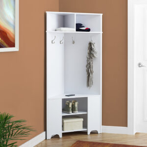 HALL TREE – 67″H / WHITE CORNER UNIT