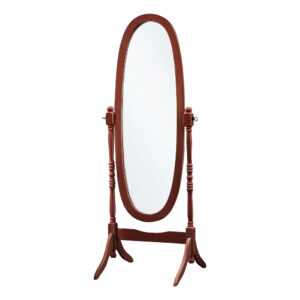MIRROR – 59″H / WALNUT OVAL WOOD FRAME