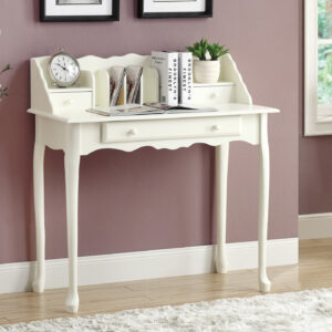COMPUTER DESK – 36″L / ANTIQUE WHITE TRADITIONAL