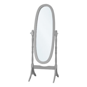 MIRROR – 59″H / GREY OVAL WOOD FRAME
