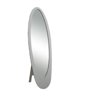 MIRROR – 59″H / GREY CONTEMPORARY OVAL FRAME