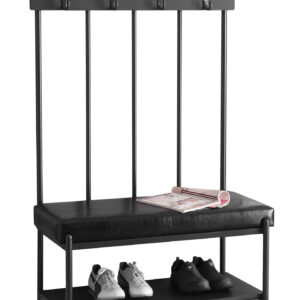 BENCH – 60″H / CHARCOAL GREY METAL HALL ENTRY
