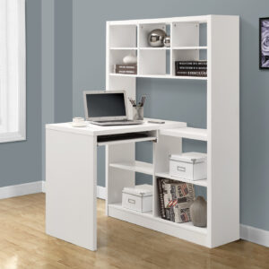 COMPUTER DESK – WHITE LEFT OR RIGHT FACING CORNER