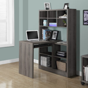 COMPUTER DESK – DARK TAUPE LEFT OR RIGHT FACING CORNER