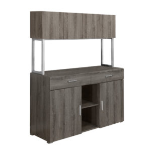 OFFICE CABINET – 48″L / DARK TAUPE STORAGE CREDENZA