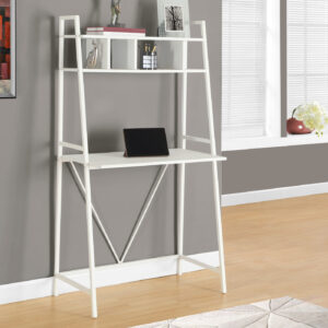 COMPUTER DESK – 32″L / WHITE TOP / WHITE METAL