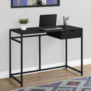COMPUTER DESK – 42″L / BLACK / BLACK METAL