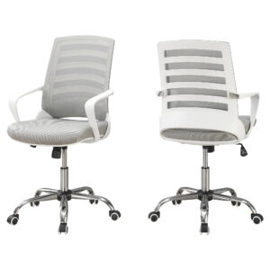 OFFICE CHAIR – WHITE / GREY MESH / MULTI POSITION