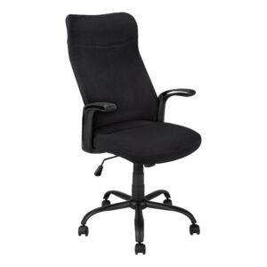 OFFICE CHAIR – BLACK / BLACK FABRIC / MULTI POSITION