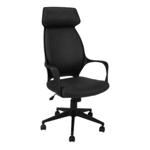 OFFICE CHAIR – BLACK MICROFIBER / HIGH BACK EXECUTIVE