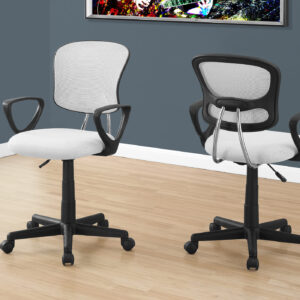 OFFICE CHAIR – WHITE MESH JUVENILE / MULTI-POSITION