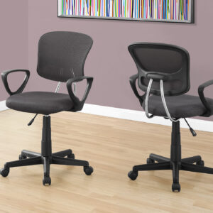OFFICE CHAIR – GREY MESH JUVENILE / MULTI POSITION