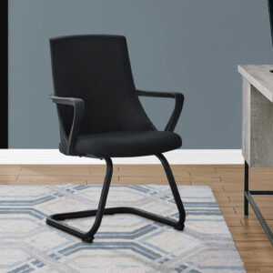 OFFICE CHAIR – 2PCS / GUEST BLACK MESH MID-BACK