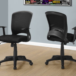 OFFICE CHAIR – BLACK MESH MID-BACK / MULTI-POSITION