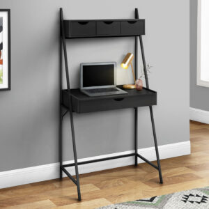 COMPUTER DESK – 32″L / BLACK / BLACK METAL