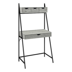 COMPUTER DESK – 32″L / GREY / BLACK METAL
