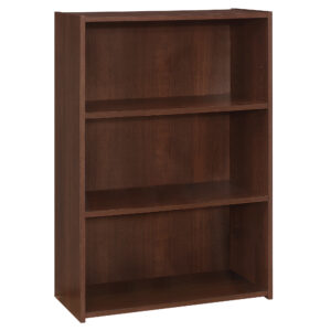 BOOKCASE – 36″H / CHERRY WITH 3 SHELVES