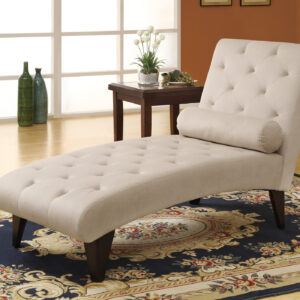 CHAISE LOUNGER – TAUPE VELVET FABRIC