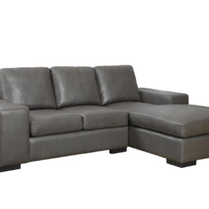 SOFA LOUNGER – CHARCOAL GREY BONDED LEATHER